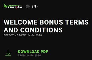 Investizo up to $100 Forex No Deposit Bonus