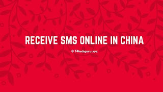 Receive SMS Online China