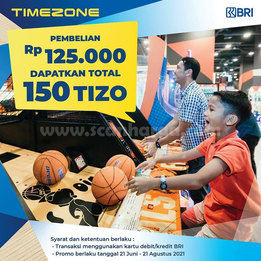 Promo TIMEZONE Kartu Kredit BRI Periode 21 Juni - 21 Agustus 2021