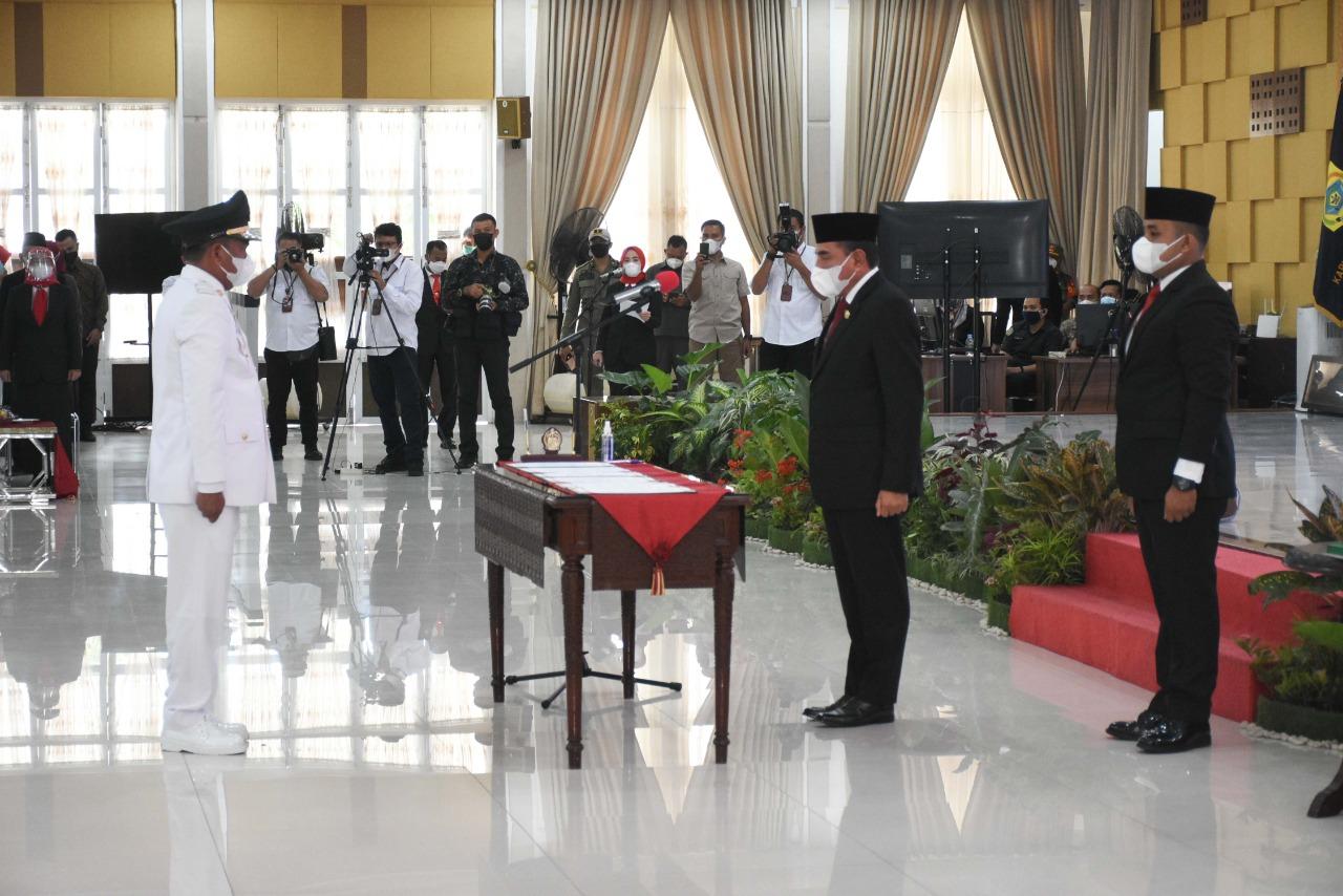Dengan Prokes Yang Ketat, Gubernur Sumut Melantik Bupati dan Wakil Bupati Sergai Secara Langsung