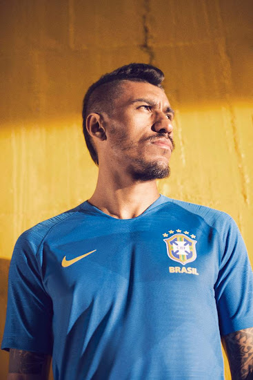 84b78a690 The Brazil 2018 World Cup away kit was unveiled today together with the new  home. Introducing a unique and modern design