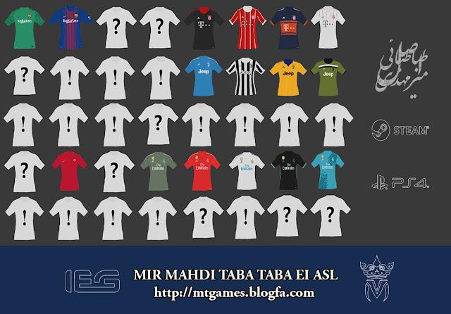 PES 2017 New Kit Pack 2018 V1.2 dai MT Games 1991