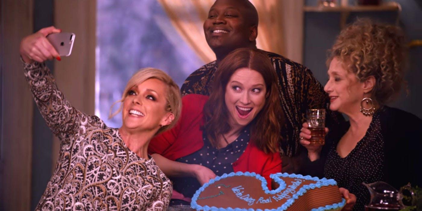 Jacqueline, Titus, Kimmy y Lillian en 'Unbreakable Kimmy Schmidt'