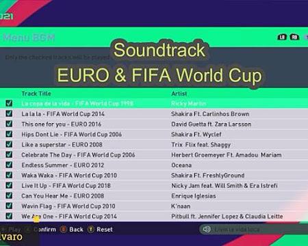 PES 2017 Soundtrack Euro & FIFA World Cup