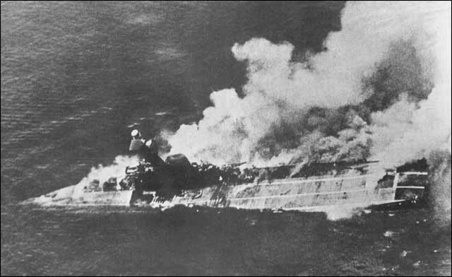 HMS Hermes sinking, 9 April 1942 worldwartwo.filminspector.com