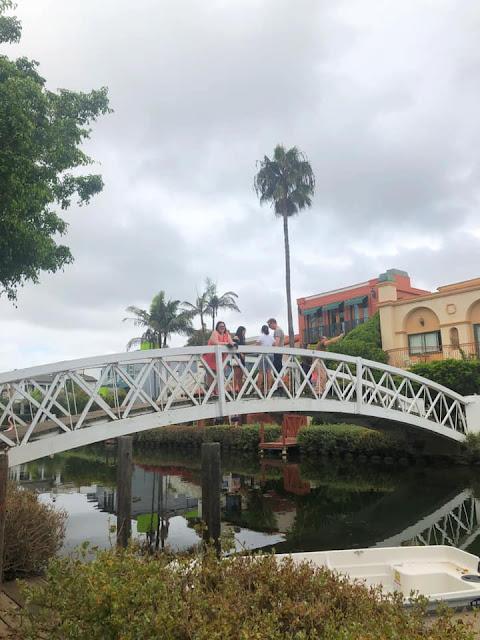 promenade sur les canaux de Venice Beach Los Angeles