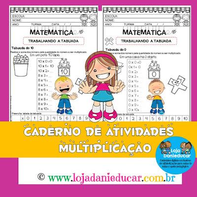 3º ano, BNCC, Caderno de atividades, Ensino Fundamental, MATEMÁTICA, multiplicação, TABUADA