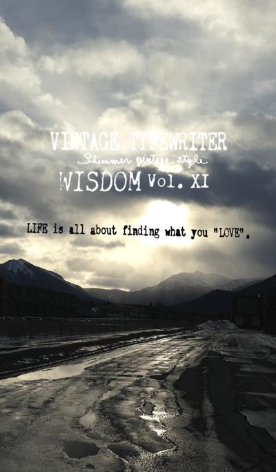 VINTAGE TYPEWRITER WISDOM Vol. XI