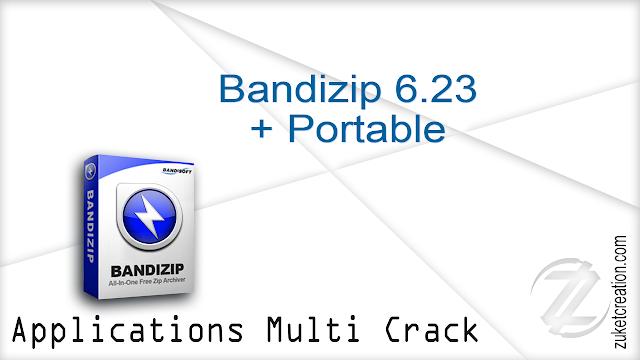 Bandizip 6.23 + Portable  |  26 MB