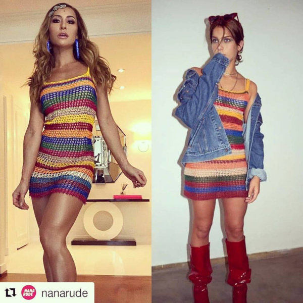 Vestido Crochê Sabrina Sato Isabella Santoni