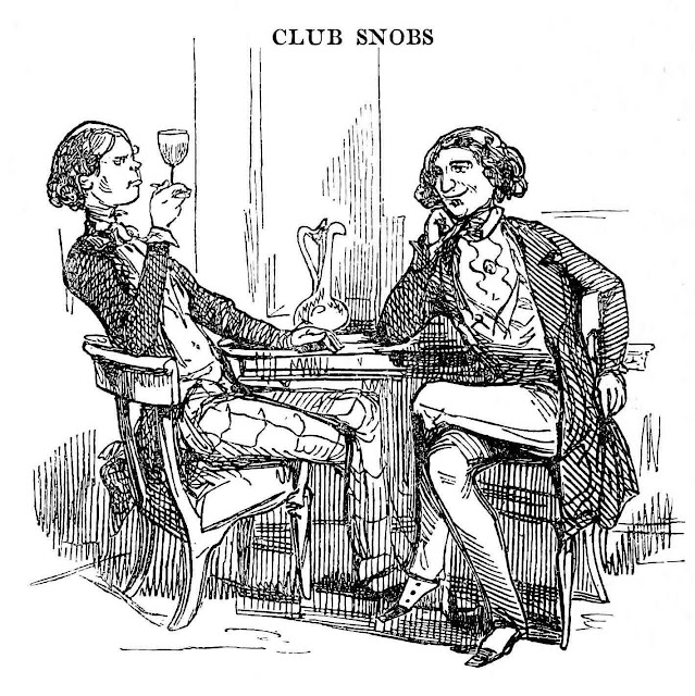 Club Snobs by Novelist and cartoonist William Makepeace Thackeray