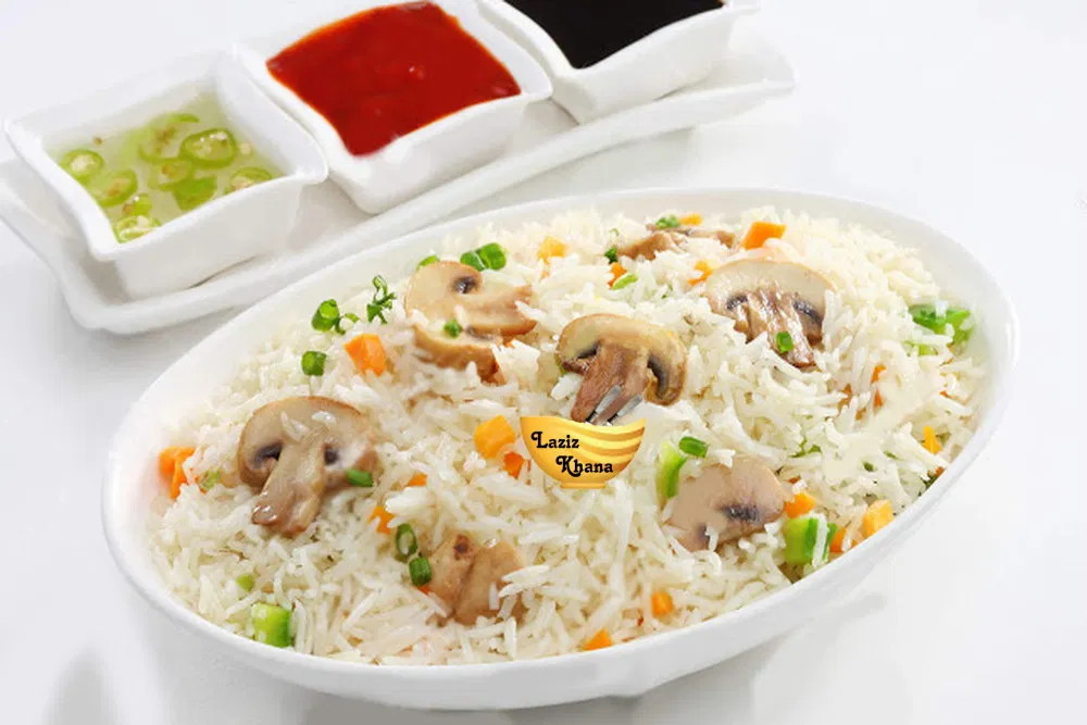Mushroom Fried Rice Recipe in Hindi