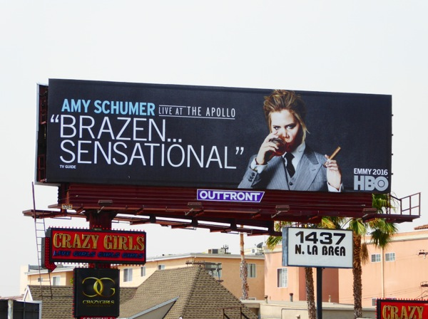 Amy Schumer Live at the Apollo HBO Emmy FYC billboard