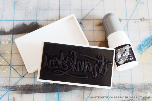 ink you silhouette mint stamp
