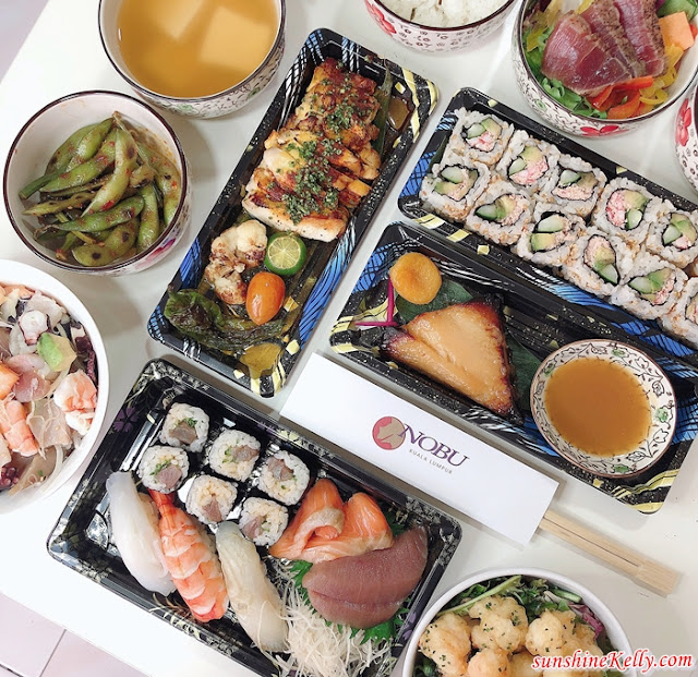 NOBU Kuala Lumpur, Takeaway Menu, Social Distance Dining, NOBU, Sushi & Sashimi Set, Matshuhisa Bento Box, Black Cod with Miso, Seafood Poke Donburi, Rock Shrimp Tempura with Nobu Sauce, Japanese Food, Food