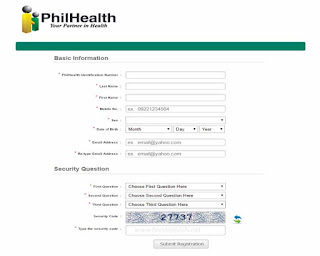 Philhealth Basic Information form