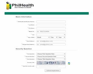 Philhealth Basic Information form