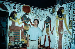 Julián Zugazagoitia in Queen Nefertari's tomb, 1993