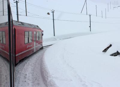 Bernina Express por St. Moritz
