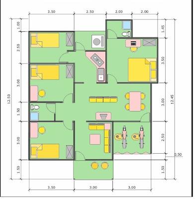 Denah Rumah Minimalis Sederhana Modern Gambar Rumah Idaman