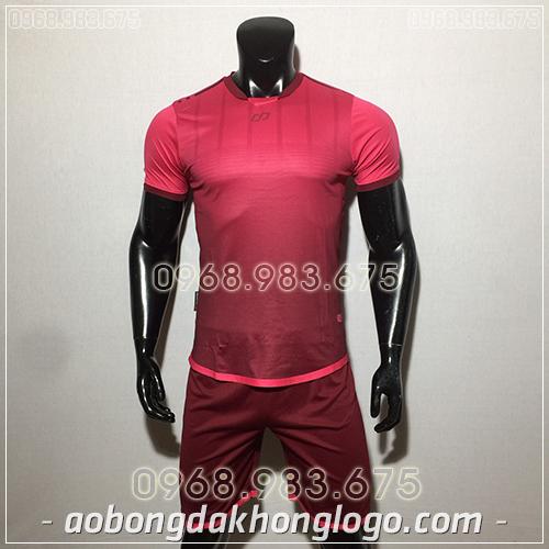 Áo bóng đá ko logo CP Combat màu hồng