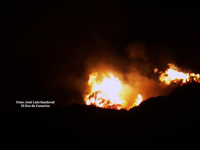 Conato incendio San Lorenzo Las Palmas de Gran Canaria 25 junio