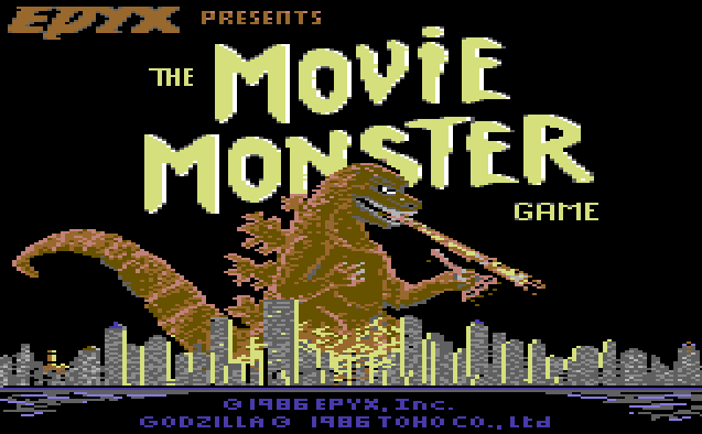 VGJUNK: THE MOVIE MONSTER GAME (COMMODORE 64)