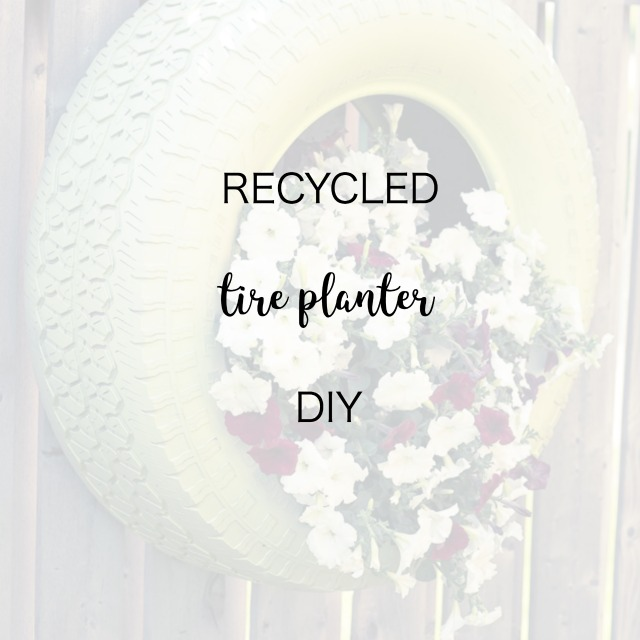 DIY Recycled Tire Planter | How to create a fun and colourful planter for your garden with a recycled tire. | personallyandrea.com