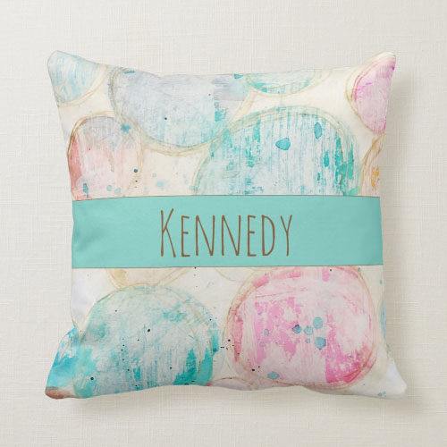abstract art pastel pillow