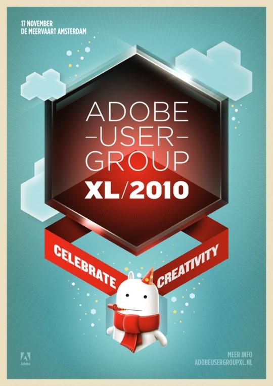 Mẫu in tờ rơi quảng cáo lạ mắt ấn tượng, Adobe User Group
