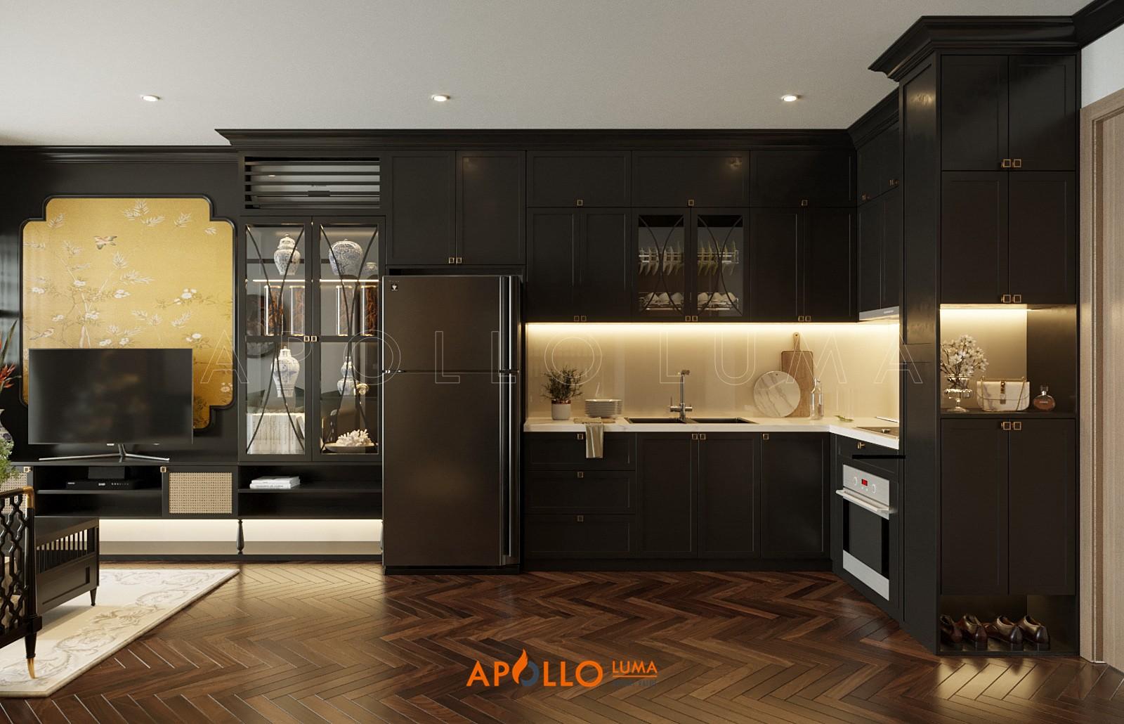 mẫu thiết kế nội thất căn 2PN+1 (43m2) Vinhomes Ocean Park & Vinhomes Smart City
