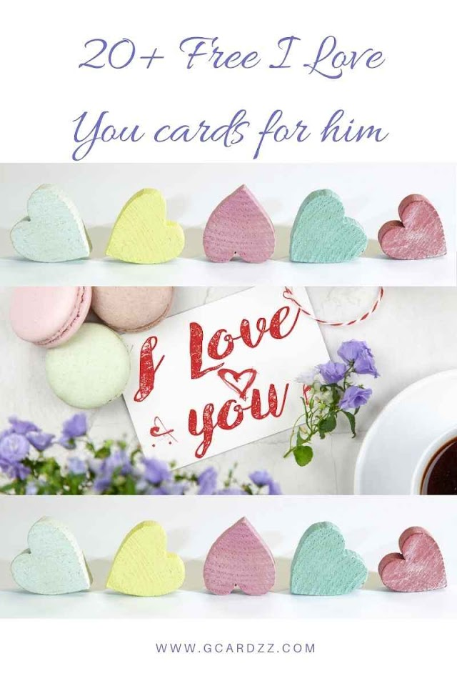 20+ Free I love you cards for him