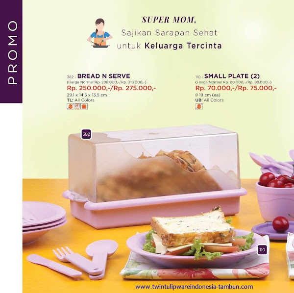 Promo Diskon Tulipware April 2017, Bread N Serve, Small Plate