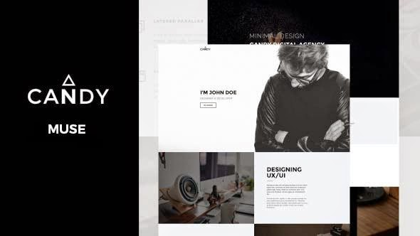 Candy – One Page Muse Template