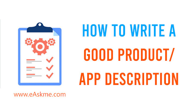 How to Write a Good Product/App Description: eAskme