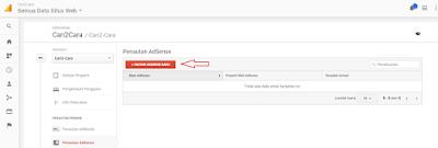 Cara menghubungkan Google Analytics Adsense