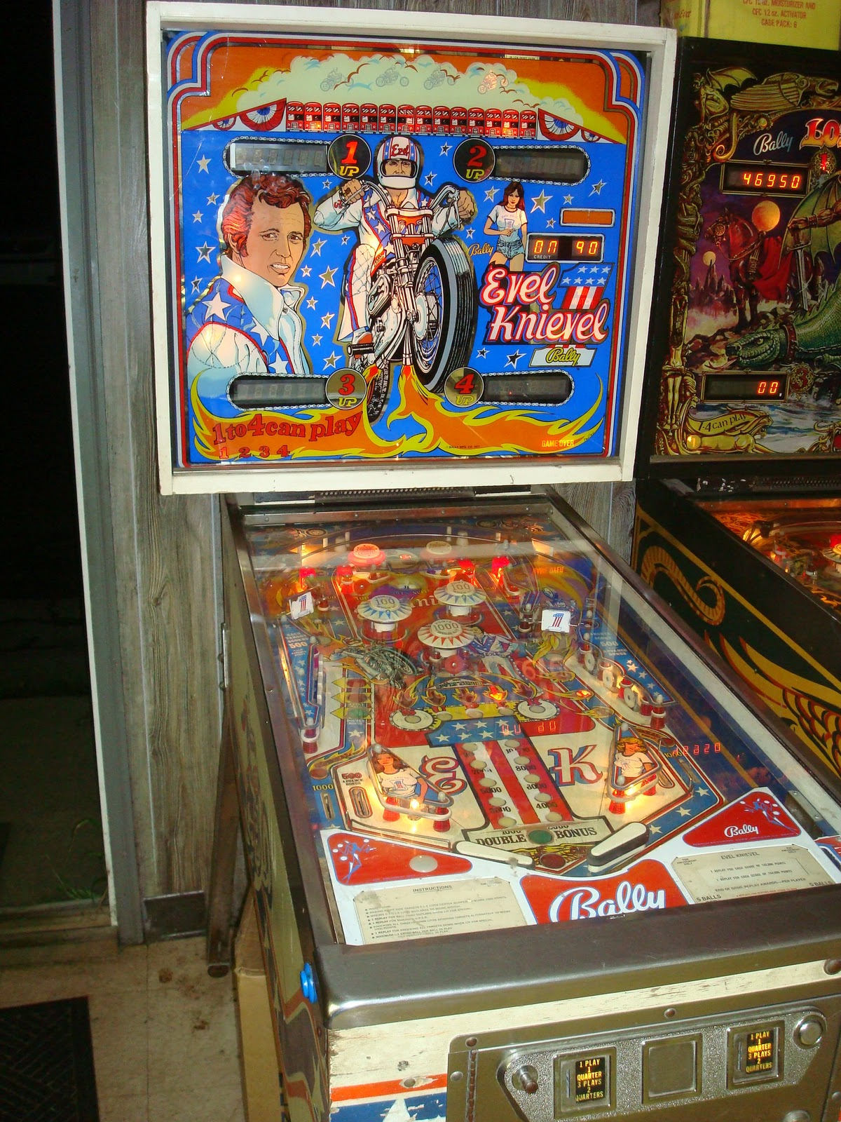 Motorious Copenhagen Sold Evel Knievel Pinball Machine 1977