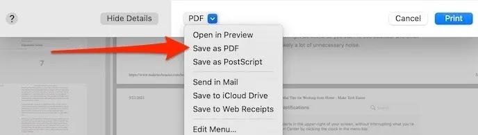 استخراج ملف Pdf أحادي الصفحة وحفظه بتنسيق Pdf