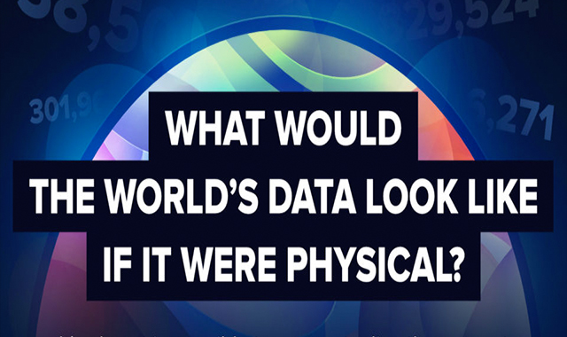 What would the information of the world look like if it were physical? #infographic