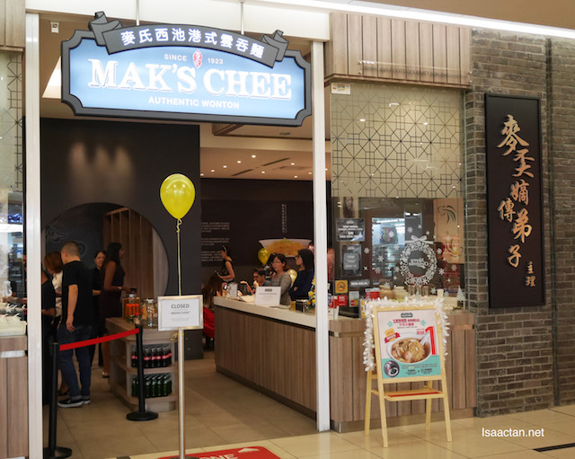 Mak's Chee Authentic Wonton outlet at 1 Utama Shopping Centre