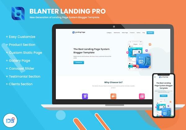 Blanter Landing Pro, o melhor modelo de página de destino multifuncional