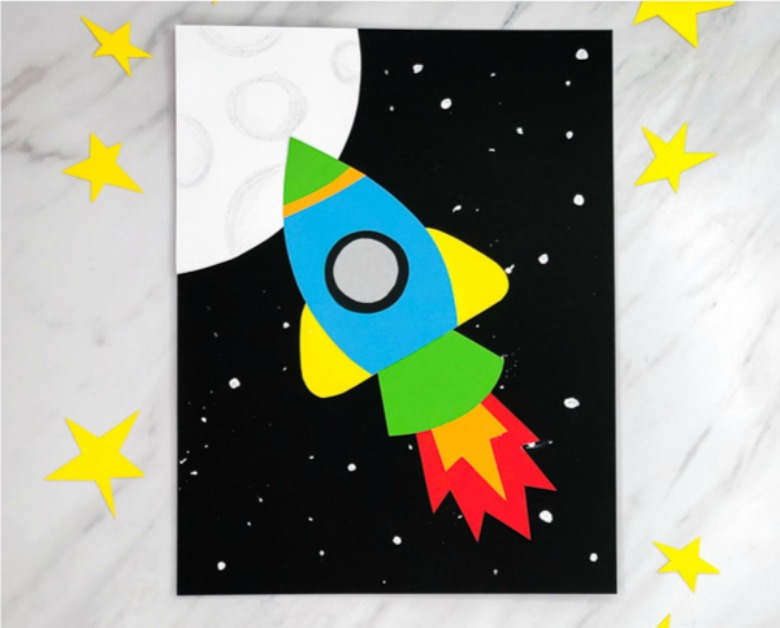 rocket paper craft for kids