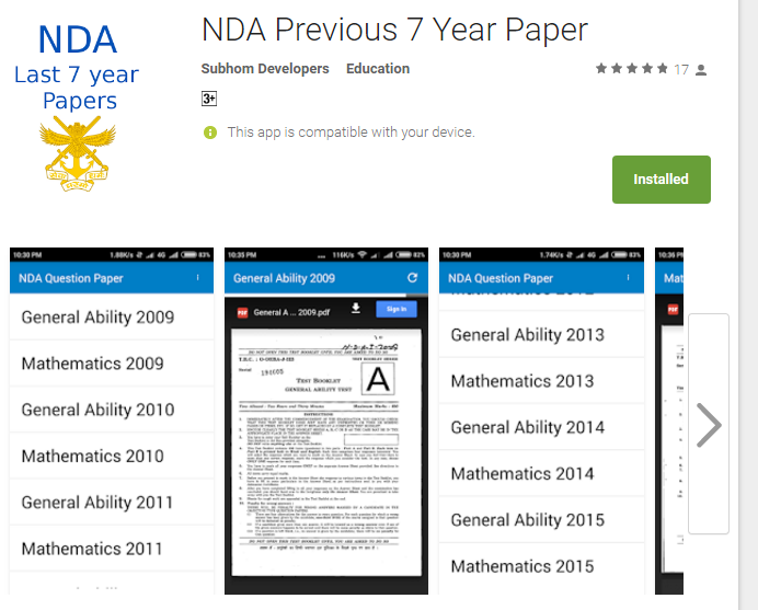 Nda Previous Year Question Papers Pdf