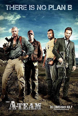 Poster of The A-Team 2010 Full Dual Audio Hindi 720p BluRay 650MB