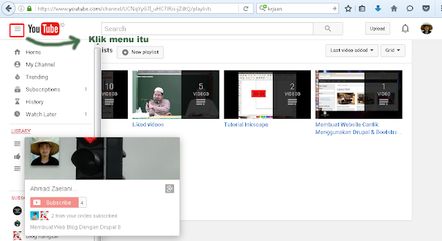 Mengelempokkan video di youtube