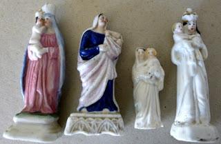 ceramiczne figurki świętych   ceramic religious figurines