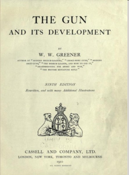 The gun and its development Book by William Wellington Greener in Pdf