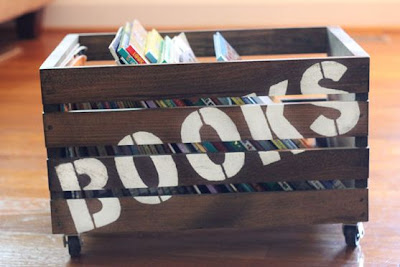 DIY Wooden Book Crate