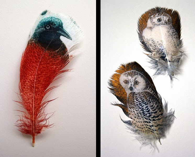 03-Rebecca-Jewell-British Museum-Art-Printed-on-Bird-Feathers-www-designstack-co