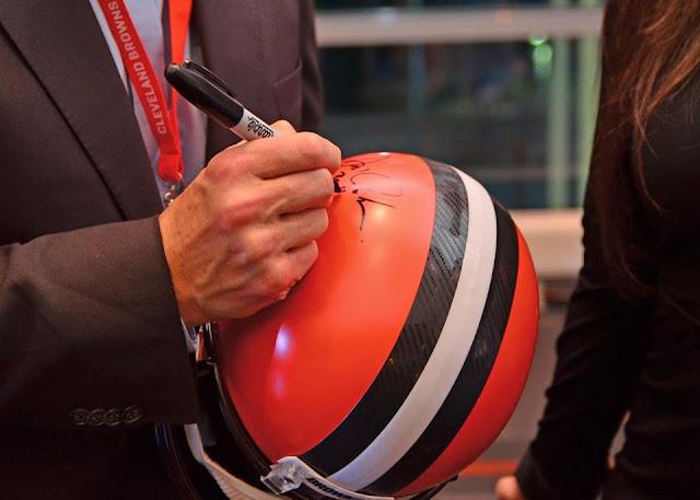 Cleveland Browns, football, autograph